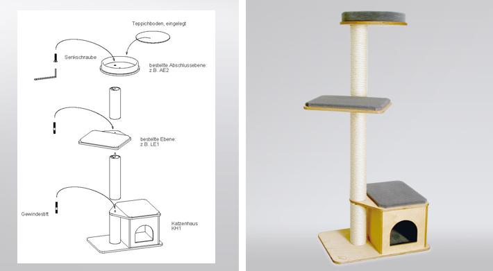 kratzbaum anleitung stunning kratzbaum anleitung with kratzbaum anleitung elegant amazing. Black Bedroom Furniture Sets. Home Design Ideas