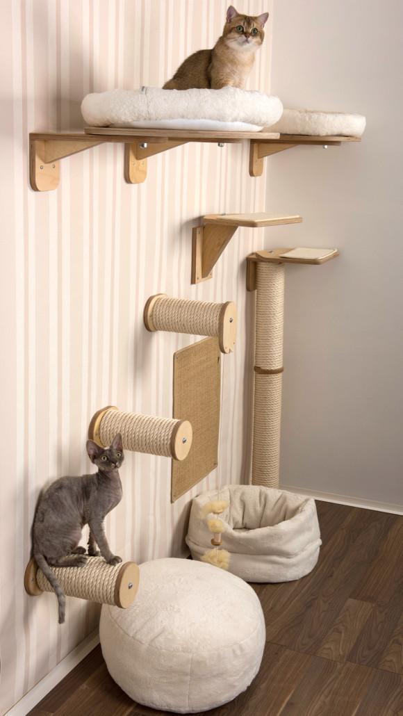kletterwand f r katzen katzenm bel f r die wandgestaltung. Black Bedroom Furniture Sets. Home Design Ideas