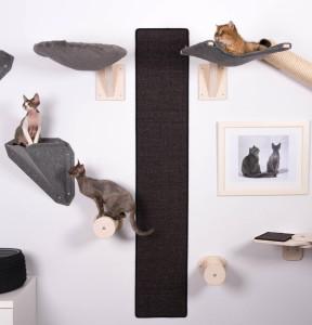 Katzen-Kletterwand-Kratzteppich