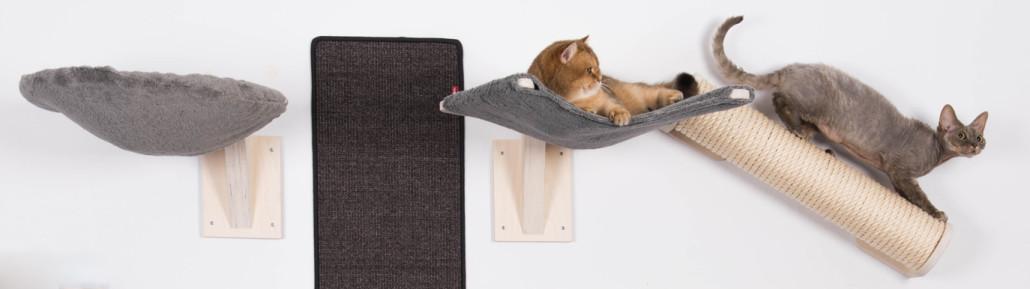 Katzen-Kletterwand-Wandliegen