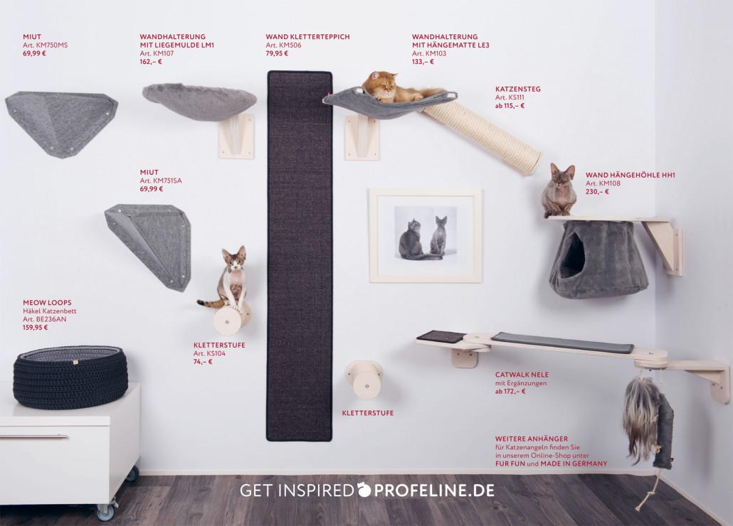 Katzen Kletterwand