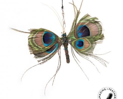 Papillon Peacock Anhänger